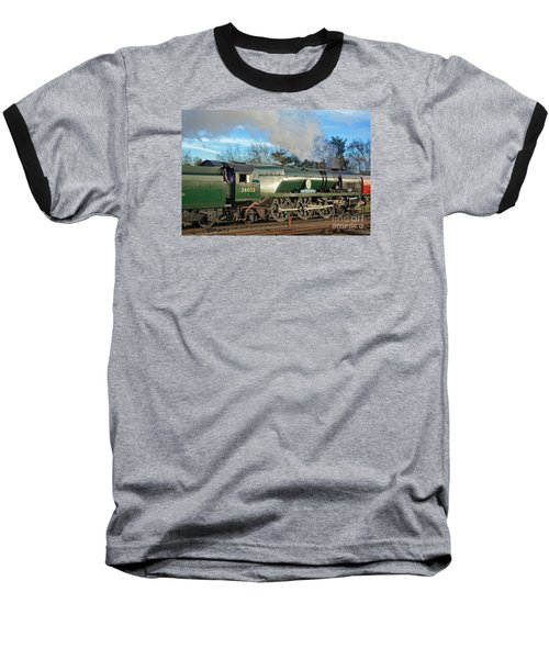 Steam Locomotive Elegance Baseball T-Shirt