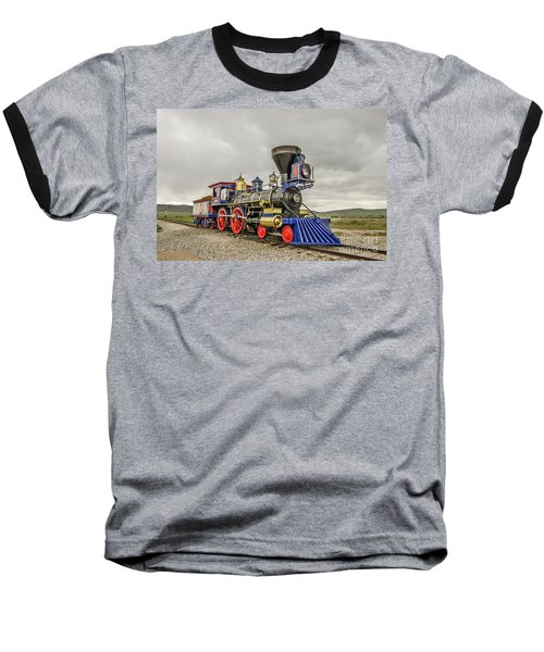 Steam Locomotive Jupiter Baseball T-Shirt by Sue Smith