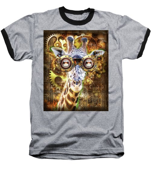Steam Punk Giraffe Baseball T-Shirt