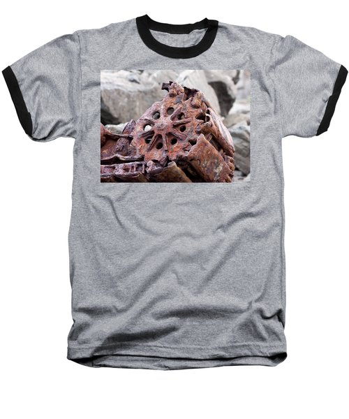 Steam Shovel Number Three Baseball T-Shirt by Kandy Hurley