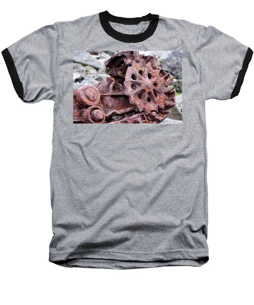 Steam Shovel Number Two Baseball T-Shirt by Kandy Hurley