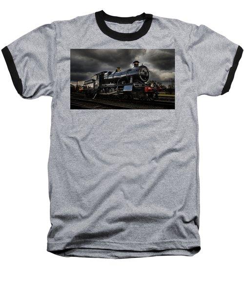 Steam Train Baseball T-Shirt by Ken Brannen