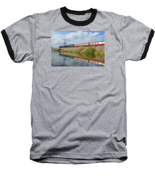 Steam Train Reflections Baseball T-Shirt