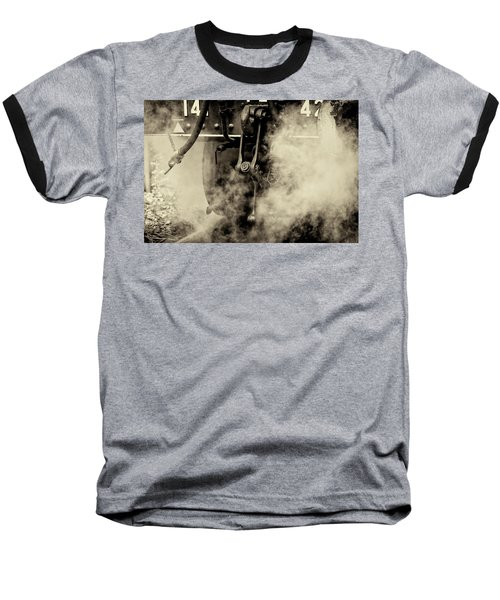Baseball T-Shirt featuring the photograph Steam Train Series No 4 by Clare Bambers