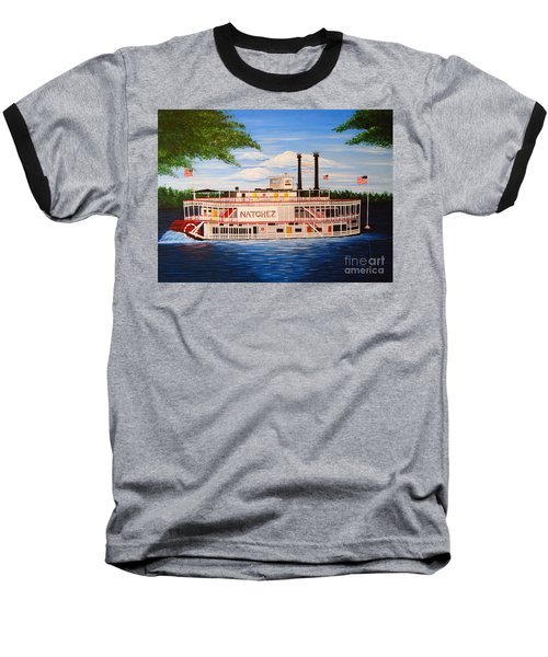 Steamboat On The Mississippi Baseball T-Shirt