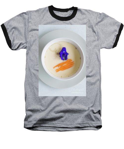 Baseball T-Shirt featuring the photograph Steamed Egg by Atiketta Sangasaeng