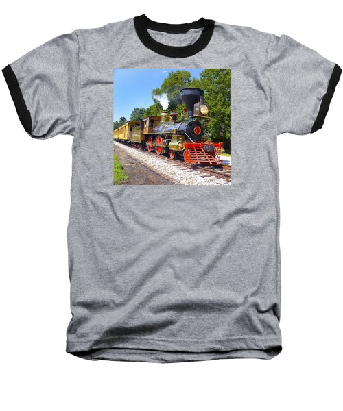 Steaming Into History Baseball T-Shirt by Paul W Faust -  Impressions of Light