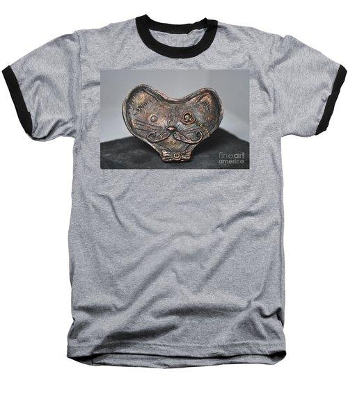 Steampunk Cat  Baseball T-Shirt