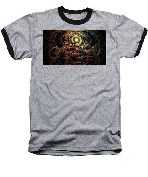 Steampunk Chopper Baseball T-Shirt by Louis Ferreira