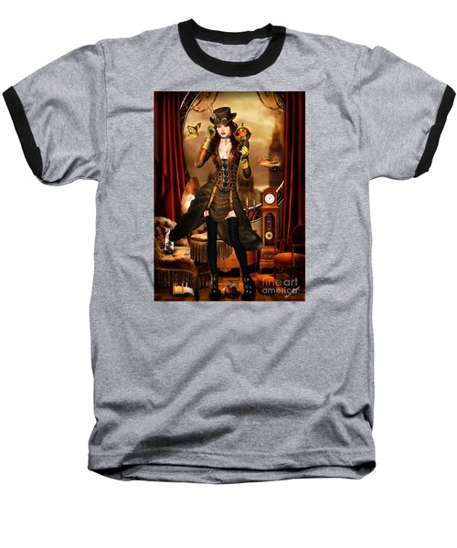 Steampunk Girl Baseball T-Shirt