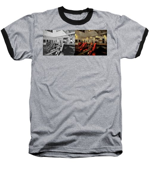 Baseball T-Shirt featuring the photograph Steampunk - Man The Controls 1908 - Side By Side by Mike Savad