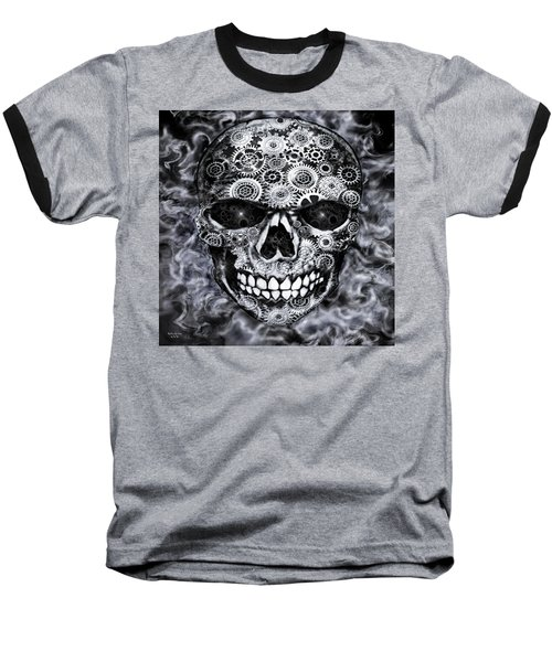 Steampunk Skull Baseball T-Shirt