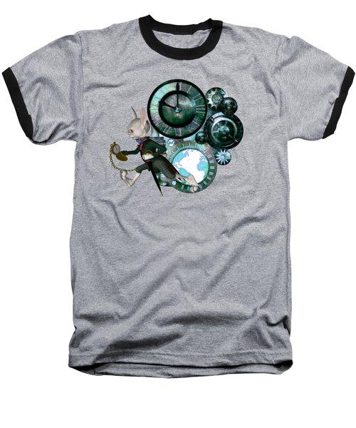 Steampunk White Rabbit Baseball T-Shirt
