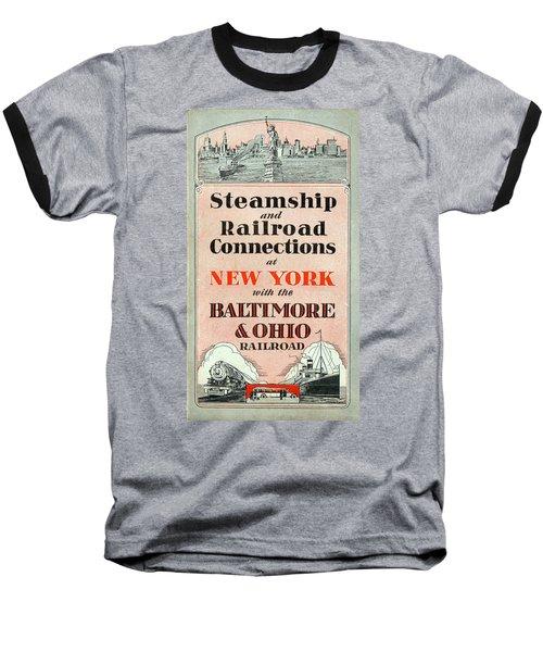 Steamship And Railroad Connections At New York Baseball T-Shirt