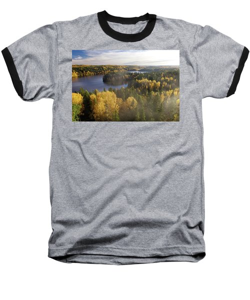 Steamy Forest Baseball T-Shirt