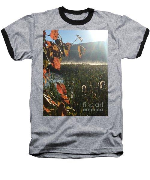 Steamy Lake Baseball T-Shirt by Jason Nicholas