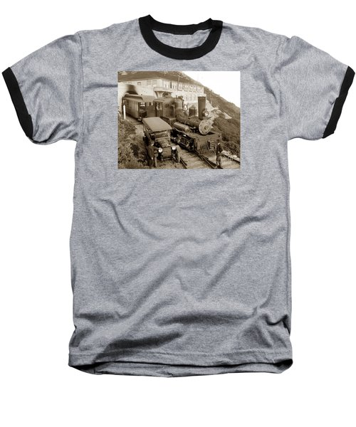 Stean Engine No. 8 Mount Tamalpais Circa 1920 Baseball T-Shirt