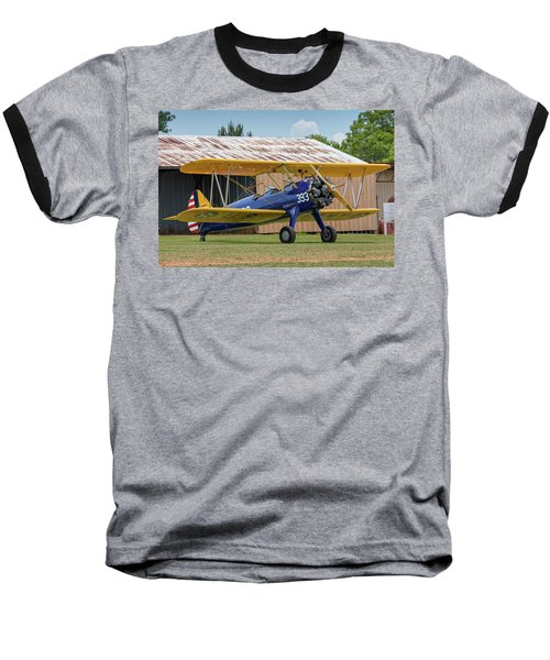 Stearman And Old Hangar Baseball T-Shirt