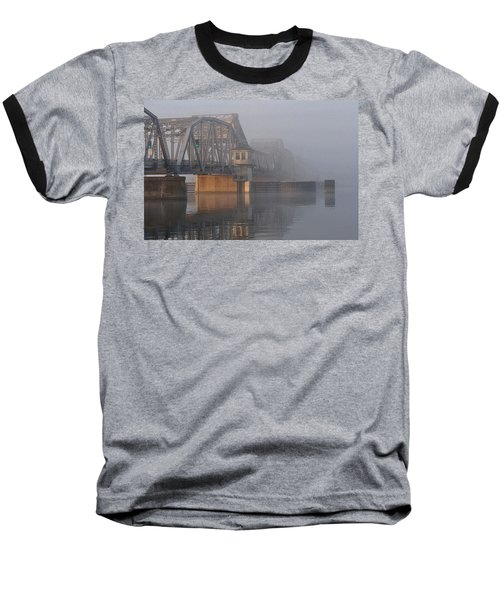 Steel Bridge In Fog Baseball T-Shirt