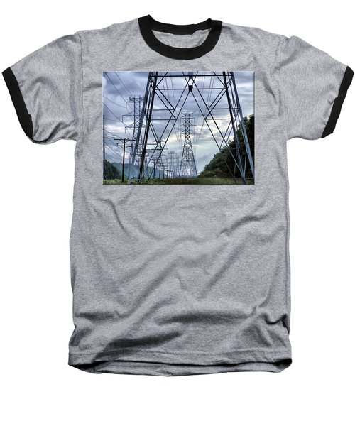Baseball T-Shirt featuring the photograph Steel Soldiers Marching To The Sea by Brian Wallace