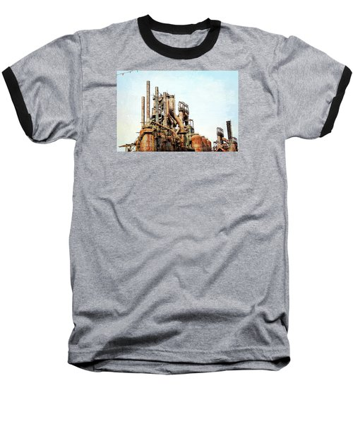Steel Stack Blast Furnaces Baseball T-Shirt
