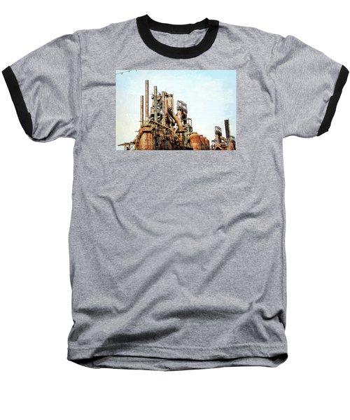 Steel Stack Blast Furnaces Baseball T-Shirt