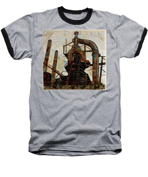 Steel Stacks Squared Baseball T-Shirt