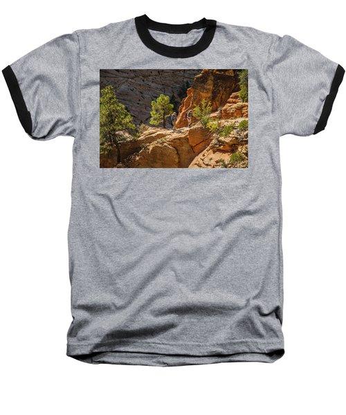 Steeply Up The Canyon Baseball T-Shirt