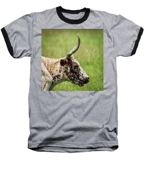 Baseball T-Shirt featuring the photograph Steer Portrait by Paul Freidlund