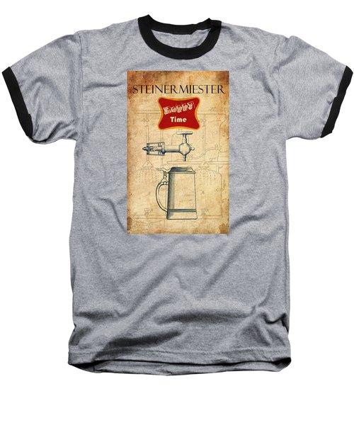 Steinermiester Baseball T-Shirt by Greg Sharpe
