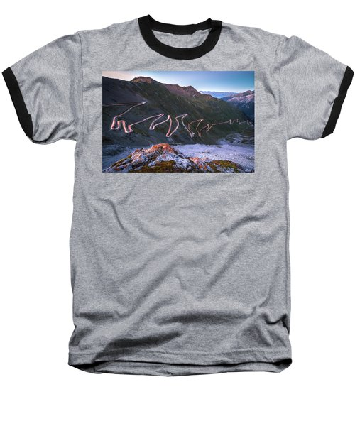 Stelvio Pass Baseball T-Shirt