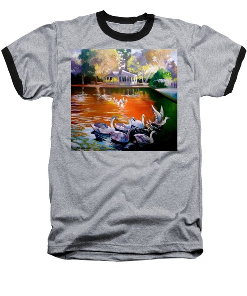Stephens Green Dublin Ireland Baseball T-Shirt by Paul Weerasekera