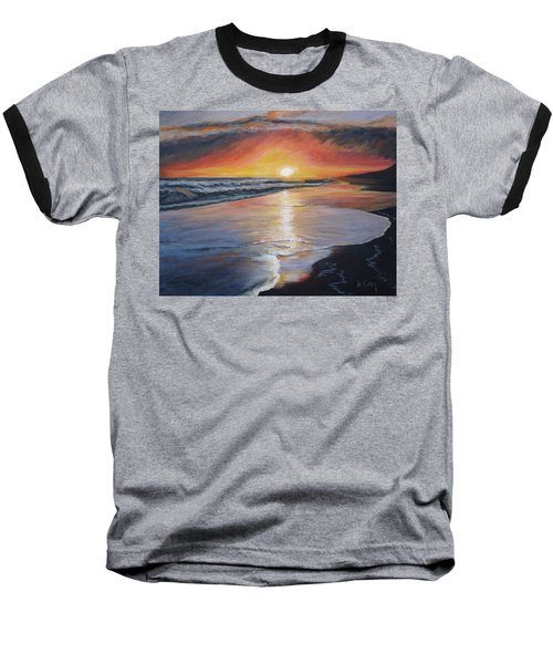Baseball T-Shirt featuring the painting Stephanie's Sunset by Donna Tuten