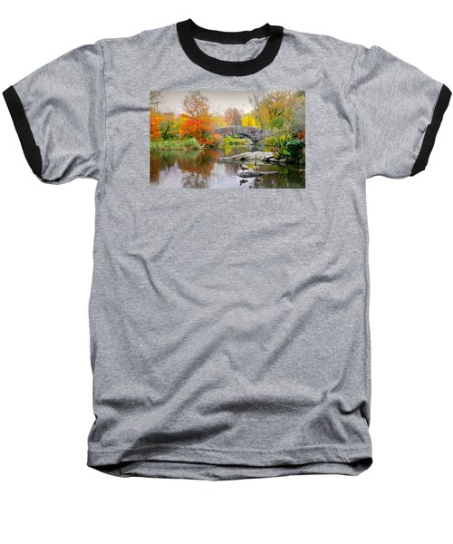 Stepping Stones Baseball T-Shirt by Diana Angstadt