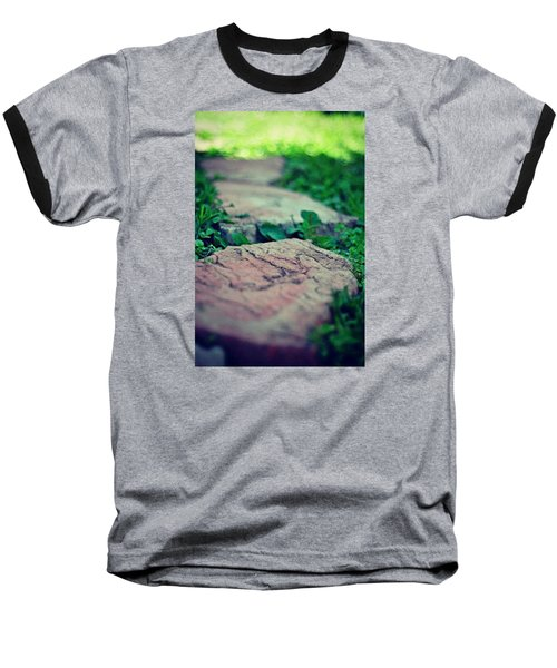 Stepping Stones Baseball T-Shirt by Artists With Autism Inc