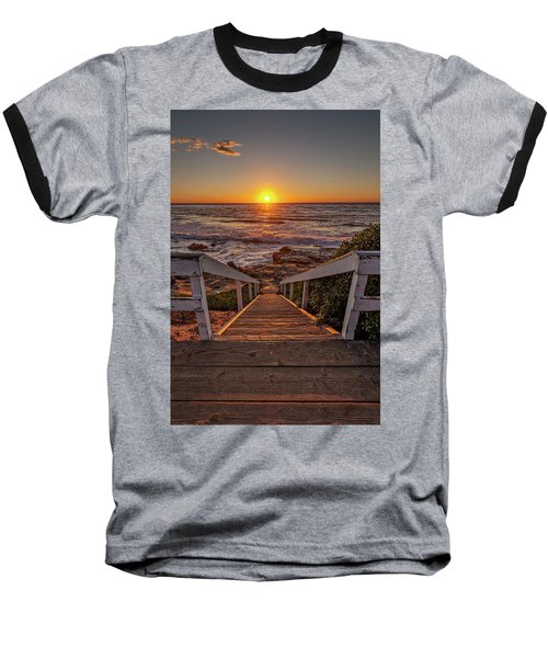 Steps To The Sun  Baseball T-Shirt by Peter Tellone