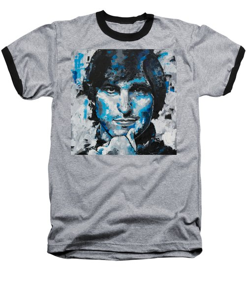 Baseball T-Shirt featuring the painting Steve Jobs II by Richard Day