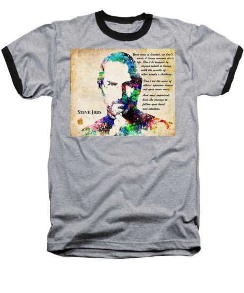 Steve Jobs Portrait Baseball T-Shirt