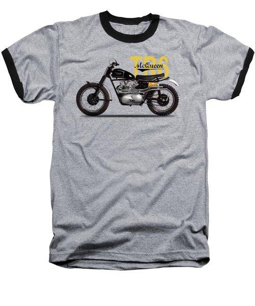 Steve Mcqueen Desert Racer Baseball T-Shirt by Mark Rogan