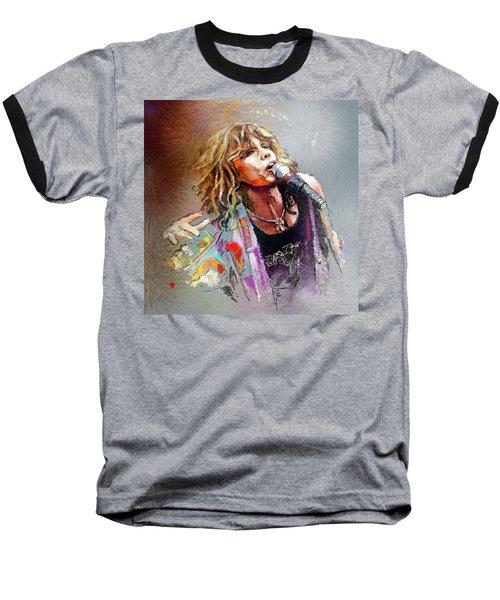 Steven Tyler 02  Aerosmith Baseball T-Shirt