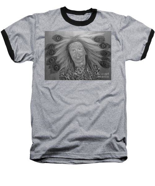 Baseball T-Shirt featuring the painting Steven Tyler Art by Jeepee Aero