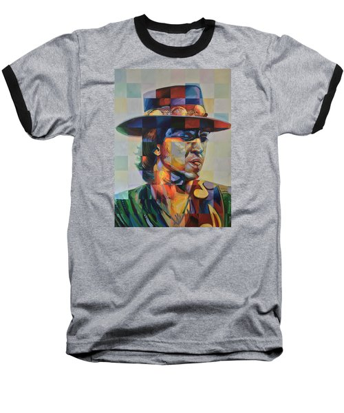 Stevie Ray Vaughan Baseball T-Shirt by Steve Hunter
