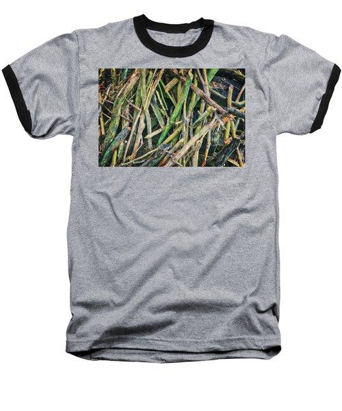 Stick Pile At Retzer Nature Center Baseball T-Shirt by Jennifer Rondinelli Reilly - Fine Art Photography