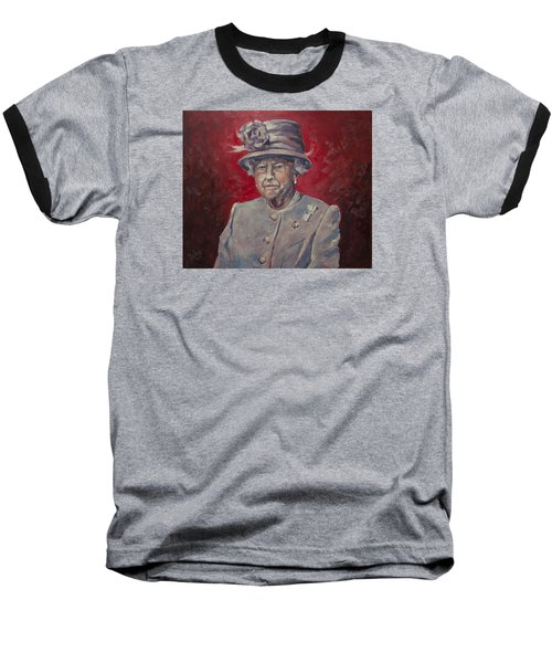 Baseball T-Shirt featuring the painting Stiff Your Upperlip And Carry On by Nop Briex