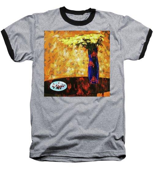 Still Life. Cherries For The Queen Baseball T-Shirt by Anastasija Kraineva