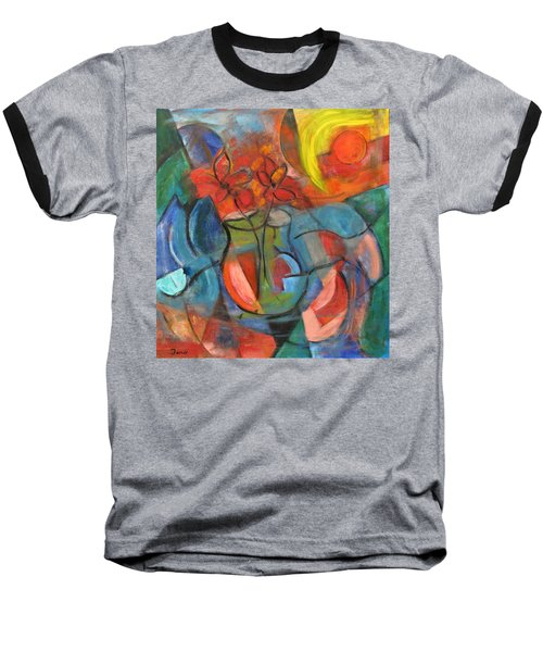 Still Life-flowers With Fruit Baseball T-Shirt