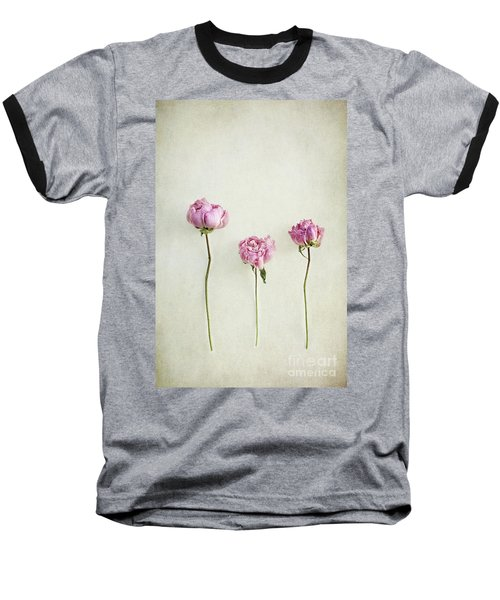 Still Life Of Dried Peonies With Texture Overlay Baseball T-Shirt