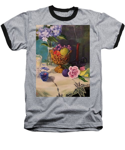 Still Life On Lace Baseball T-Shirt