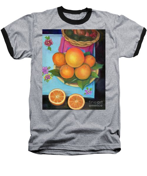 Still Life Oranges And Grapefruit Baseball T-Shirt by Marlene Book