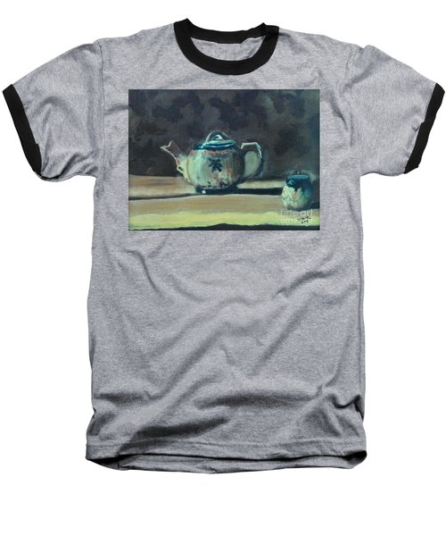 Still Life Teapot And Sugar Bowl Baseball T-Shirt